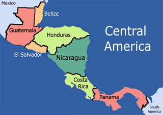 Where Is Nicaragua Located On A World Map.Location